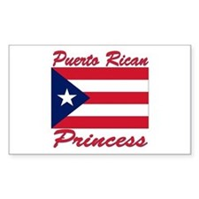 Puerto rican pride Rectangle Decal