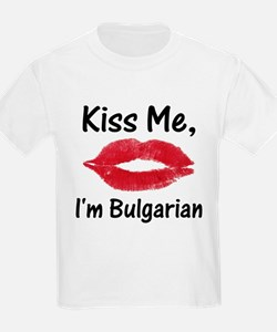 Kiss Me, I'm Bulgarian Kids T-Shirt