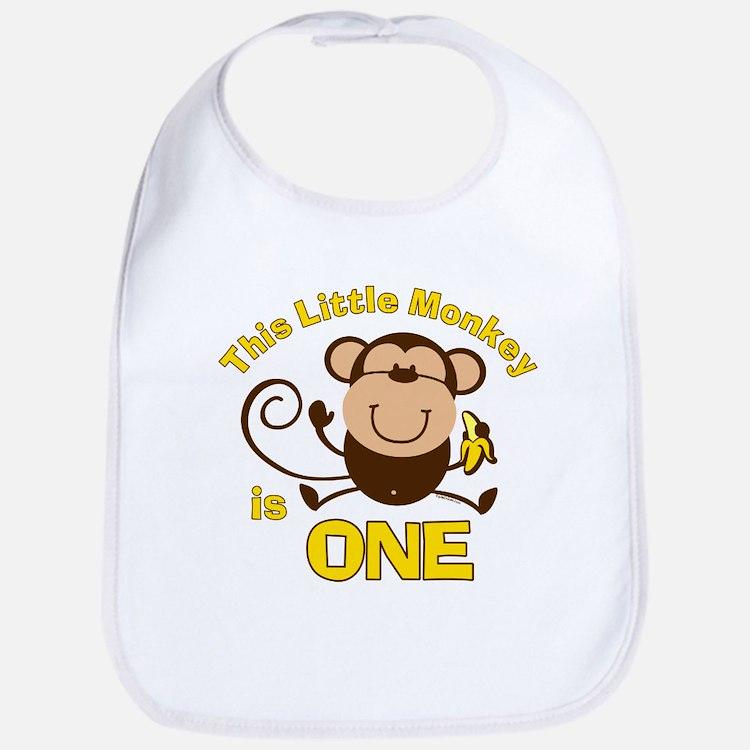 Little Monkey 1st Birthday Boy Bib