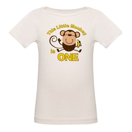Little Monkey 1st Birthday Boy Organic Baby T-Shir