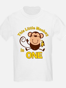 Little Monkey 1st Birthday Boy T-Shirt