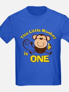 Little Monkey 1st Birthday Boy T