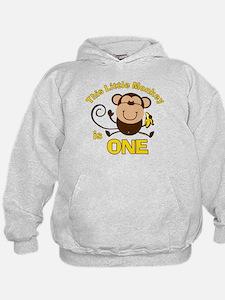 Little Monkey 1st Birthday Boy Hoody