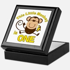 Little Monkey 1st Birthday Boy Keepsake Box