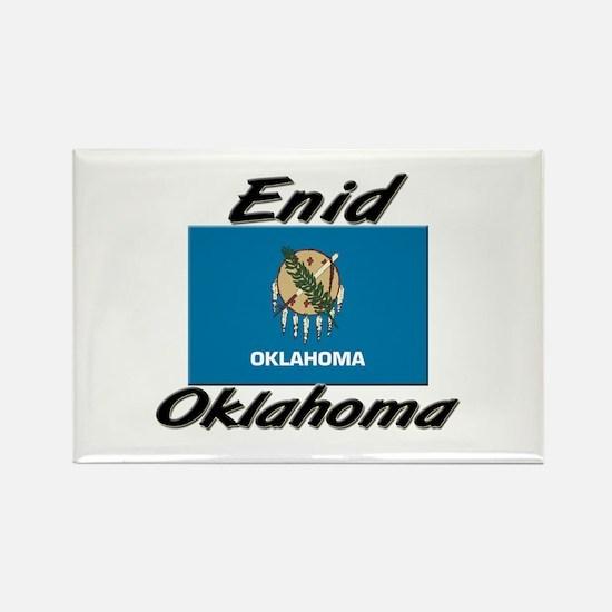 Enid Oklahoma Rectangle Magnet