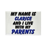 my name is clarice and I live with my parents Rect