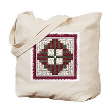 Christmas Wreath Quilt Tote Bag