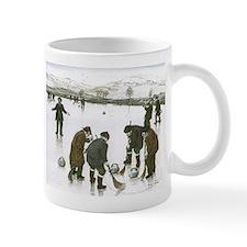 Mug with curling print