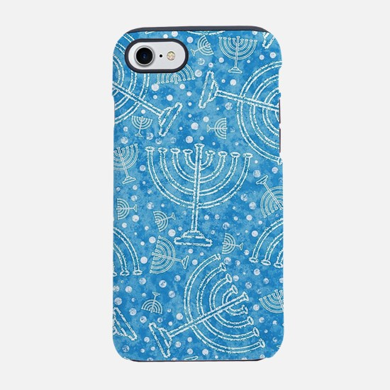 Hanukkah Menorah Pattern iPhone 7 Tough Case