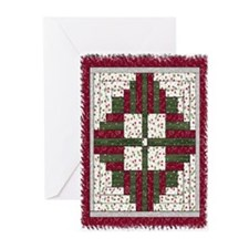 Christmas Wreath Quilt Greeting Cards (Package of