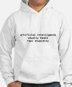 Artificial Intelligence vs Stupidity Hoodie