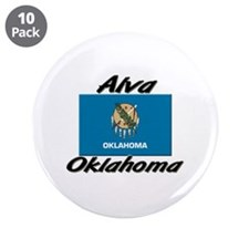 "Alva Oklahoma 3.5"" Button (10 pack)"