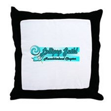 Lollipop Blue Throw Pillow