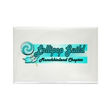 Lollipop Blue Rectangle Magnet