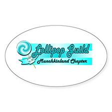 Lollipop Blue Oval Decal
