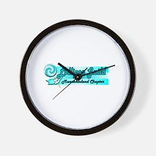 Lollipop Blue Wall Clock