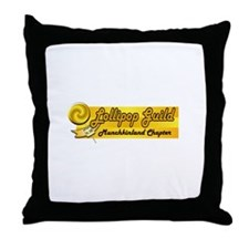Lollipop Orange Throw Pillow