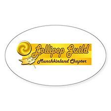 Lollipop Orange Oval Decal