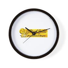 Lollipop Orange Wall Clock