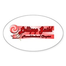 Lollipop Pink Oval Decal