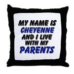 my name is cheyenne and I live with my parents Thr