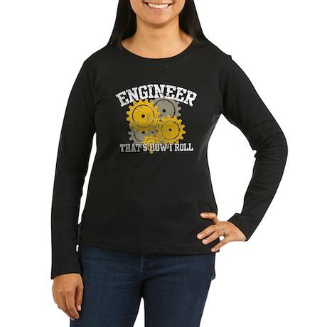 Engineer Women's Long Sleeve Dark T-Shirt