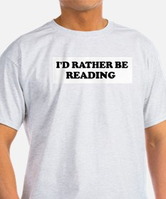 Rather be Reading Ash Grey T-Shirt