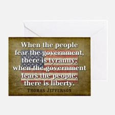 Jefferson: Liberty vs. Tyranny Greeting Card