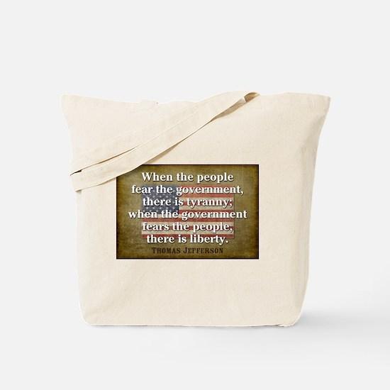 Jefferson: Liberty vs. Tyranny Tote Bag