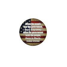 Jefferson: Liberty vs. Tyranny Mini Button (10 pac