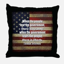 Jefferson: Liberty vs. Tyranny Throw Pillow