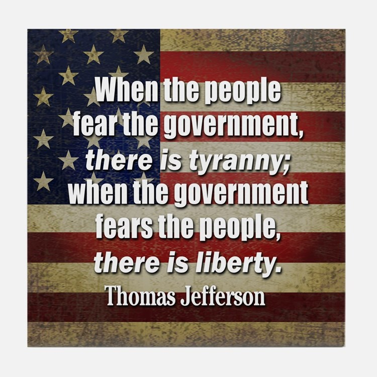 Jefferson: Liberty vs. Tyranny Tile Coaster
