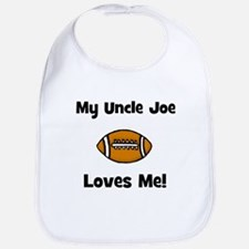 My Uncle JOE Loves Me - Football - Bib