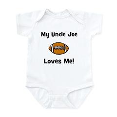 My Uncle JOE Loves Me - Football - Infant Bodysuit