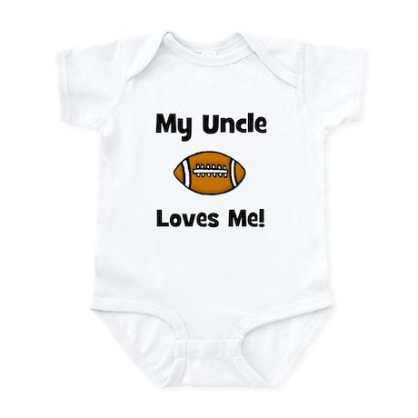 My Uncle Loves Me - Football Infant Bodysuit