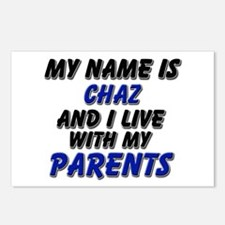 my name is chaz and I live with my parents Postcar