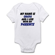 my name is chaya and I live with my parents Infant