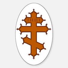 Russian Cross Oval Decal