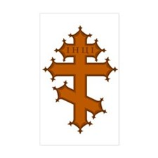 Russian Cross Rectangle Decal