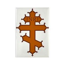 Romanian Cross Rectangle Magnet