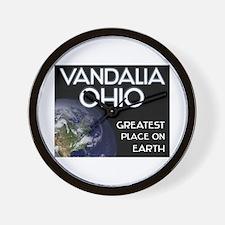 vandalia ohio - greatest place on earth Wall Clock