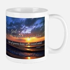 Sunset with Timothy verse Mug