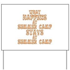 Summer Camp Yard Sign