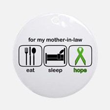 Mother-in-law ESHope Lymphoma Ornament (Round)