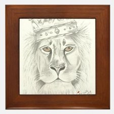 Lion of Judah Framed Tile