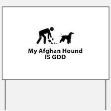 Afghan Hound Yard Sign