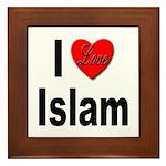 I Love Islam Framed Tile