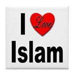 I Love Islam Tile Coaster