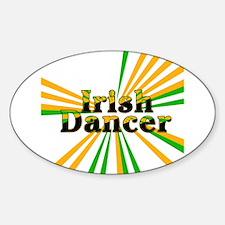 Irish Dancer Oval Decal