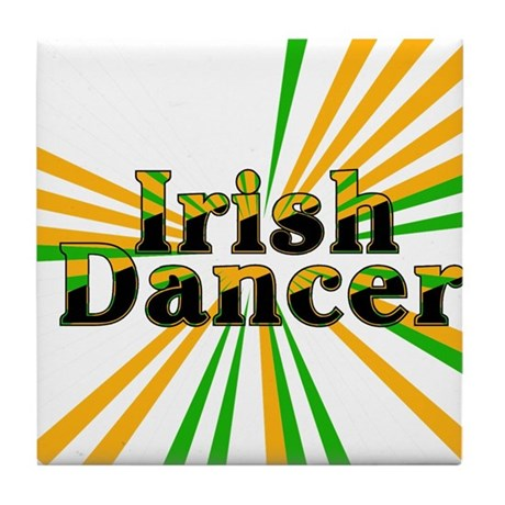 Irish Dancer Tile Coaster